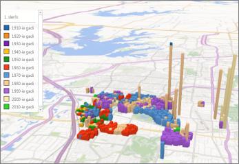 Power Map ar noklusējuma dizainu