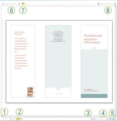 Drukas priekšskatījums programmā Publisher 2010