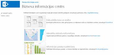 Biznesa informācijas centra vietnes sākumlapa