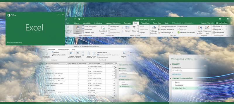 Vaicājums programmā Excel2016