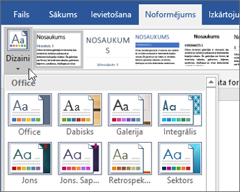 Office365 Word dizaini