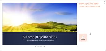 Biznesa plāna veidne