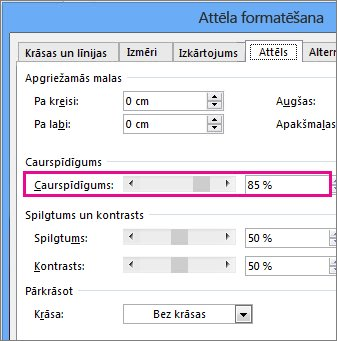 Ekrānuzņēmums, kurā redzams dialoglodziņš Formatēt attēlu programmā Publisher.