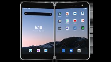 Ierīces Surface Duo atveidošana