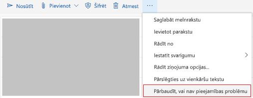 Outlook Online pārbaude, vai nav pieejamības problēmu