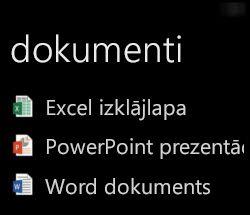 Darbvirsmas dokumentu attēlojums Windows Phone, kad darbojas Office Remote