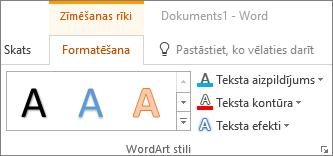 Grupa WordArt stili