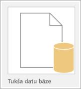 Ikona ar tukšu datu bāzi