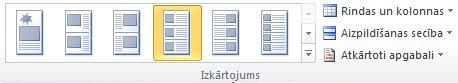 Katalogu sapludināšanas izkārtojuma opcijas