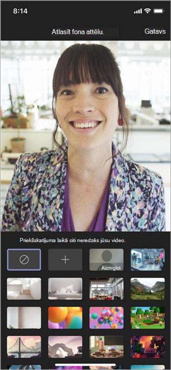 Mobilajā video foniem pieejamās opcijas