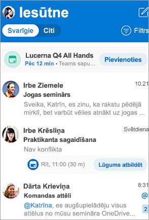 Rādīt Outlook iesūtni