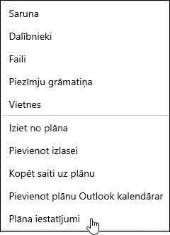 E-pasta ziņojuma saņemšana par plānu