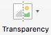 Poga Caurspīdīgums lentes cilnē Formatēšana