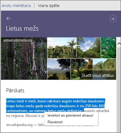 Pētnieks Skatiet visus attēlus, pievienojiet tekstu vai pievienojiet un atsaucieties uz tekstu