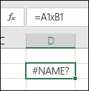 Kļūda #NAME?, ja reizināšanai* vietā tiek izmantota zīmex ar šūnas atsauci