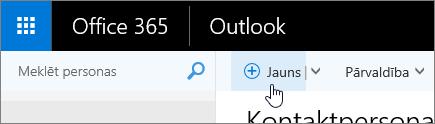 Ekrānuzņēmums ar kursora rādītāju virs pogas Jauns lapā personas.