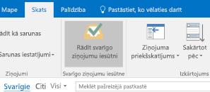 Outlook līdzeklis Svarīgo ziņojumu iesūtne