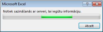Office ziņojums: Notiek sazināšanās ar serveri, lai iegūtu papildinformāciju
