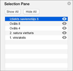 Rāda atlases rūti programmā PowerPoint 2016 darbam ar Mac