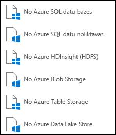 Datu ieguve no Microsoft Azure