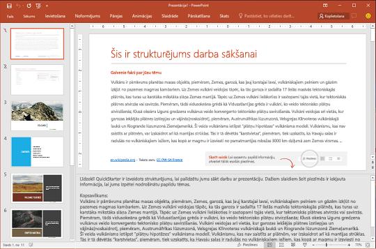 QuickStarter procesa 2. darbība. Atlasiet slaidus, kurus vēlaties paturēt.
