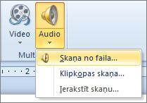Audio izvēlne
