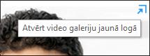 Ekrānuzņēmums ar video galeriju atsevišķā logā