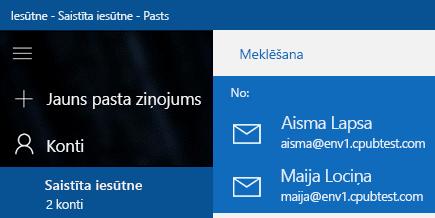 Izvēlieties savu kontu, lai nosūtītu jaunu ziņojumu