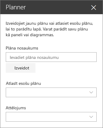Planner tīmekļa daļa Toolbox