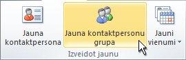 Lentes komanda Jauna kontaktpersonu grupa