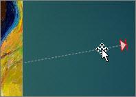 noklikšķināšana uz kustības trajektorijas un taustiņa delete nospiešana
