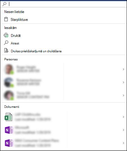 Atlasītu lodziņu Microsoft Search