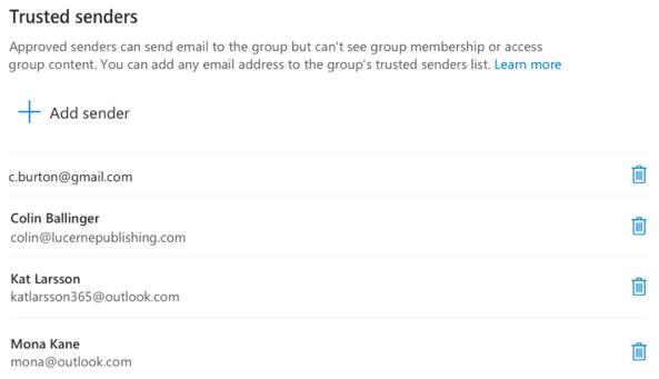 Jūs jebkurā laikā varat pievienot vai noņemt sūtītājus.