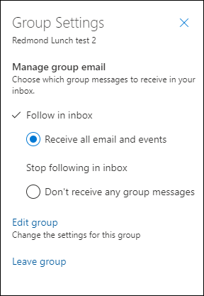 Grupu varat atstāt grupas iestatījumos.