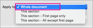 Lietot izvēlnei ar iezīmētu visu dokumentu.