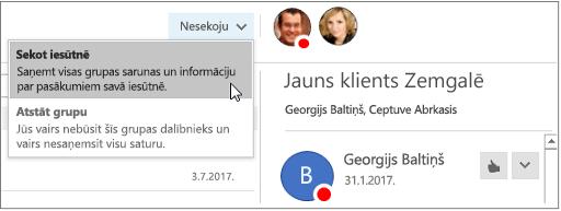 Abonēšanas pārtraukšana pogu grupas galvenē programmā Outlook 2016