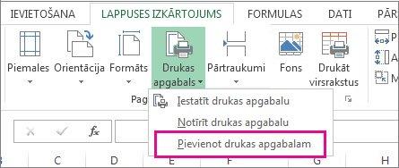 Kā pievienot iespējas Excel