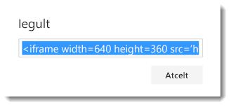Office 365 video iegulšanas kods