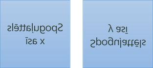 Spoguļota teksta piemērs: pirmais tiek pagriezts par 180 grādiem x asī, bet otrais tiek pagriezts par 180 grādiem uz y ass
