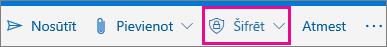 Outlook.com lente ar iezīmētu pogu šifrēšana