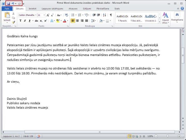 Word 2010 dokuments