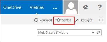 Sekojiet SharePoint Online vietnei un pievienojiet saiti uz lapu Vietnes pakalpojumā Office 365.