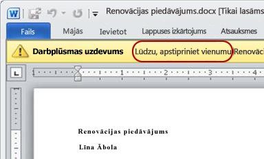 Pārskatāmais elements ar izceltu tekstu Lūdzu, apstipriniet