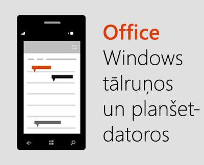 Noklikšķiniet, lai iestatītu Office mobilās lietojumprogrammas Windows10 ierīcē