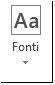 Poga Fonti programmā Publisher2013
