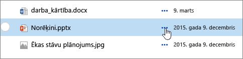 Faila nosaukuma iezīmēta dokumentu bibliotēkā