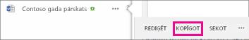 Koplietošanas pogas ekrānuzņēmums