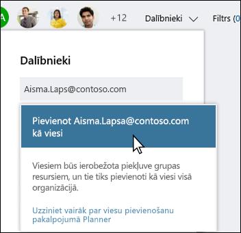Ekrāna tveršanas: rāda uzvednes, kurā jautāts, vai vēlaties pievienot viesa lietotāju.