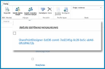 AQ lentes ekrānuzņēmums SPO BCS ārējā skatā.