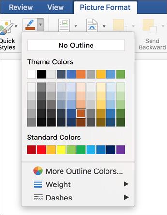 Noklikšķināšana uz attēla kontūras ikonas